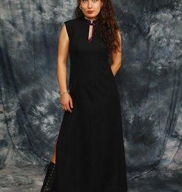 Black sequin dress with side split