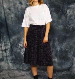 Velvet 70s midi skirt