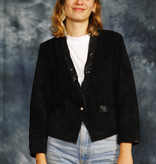 Suede 80s jacket in black
