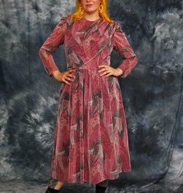 Pink 80s midi dress