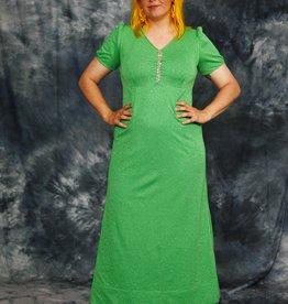 Green 70s maxi dress