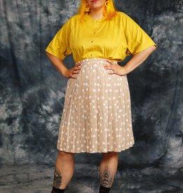 Pleated 80s Polkadot Skirt