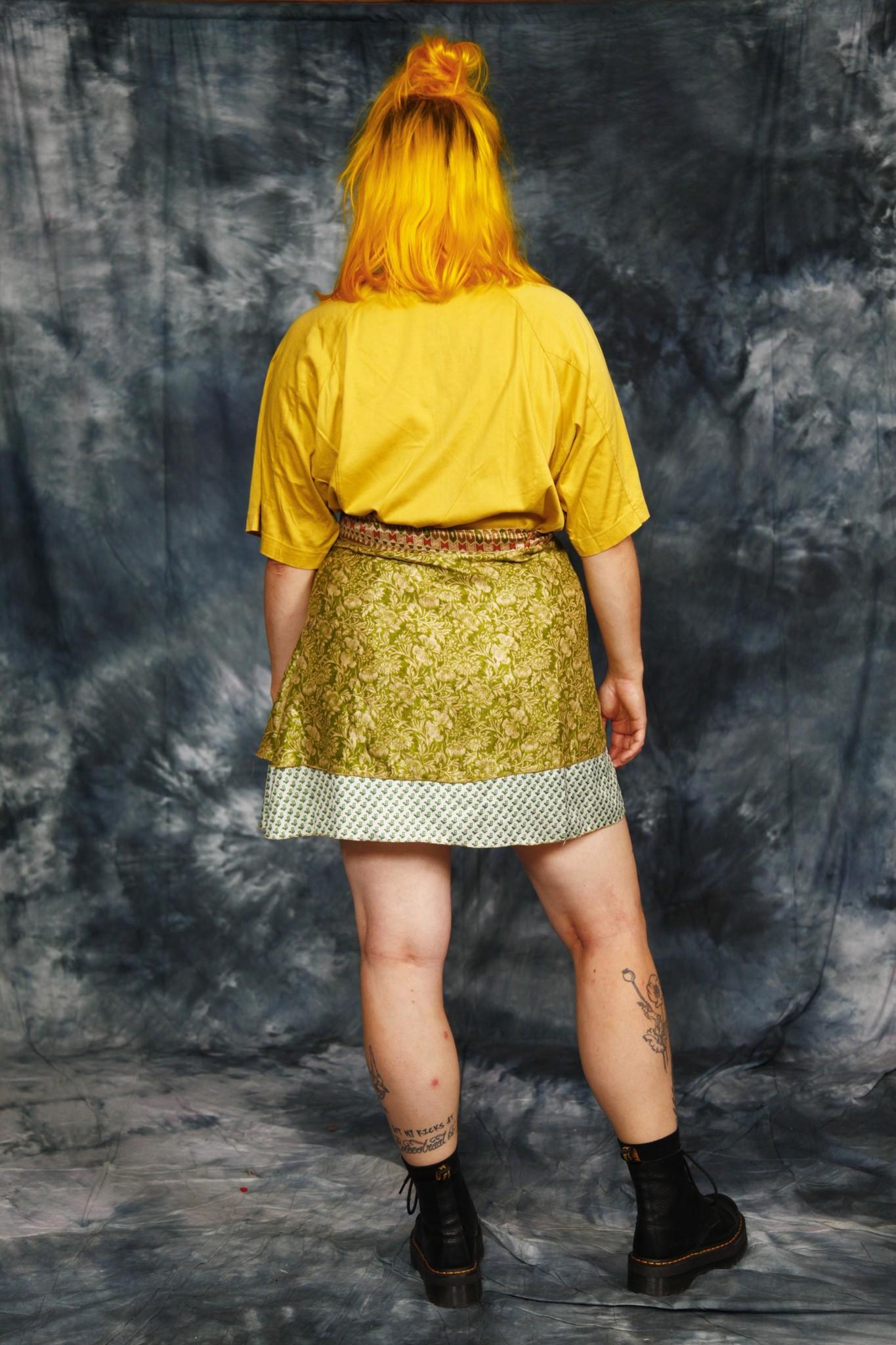 Cute reversible wrap skirt