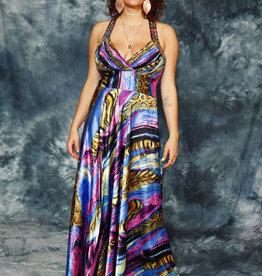 Shiny 00s maxi dress