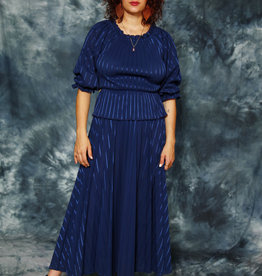 Striped 80s peplum dress