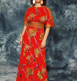 Colorful 70s maxi dress
