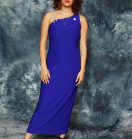 Blue 80s bodycon dress