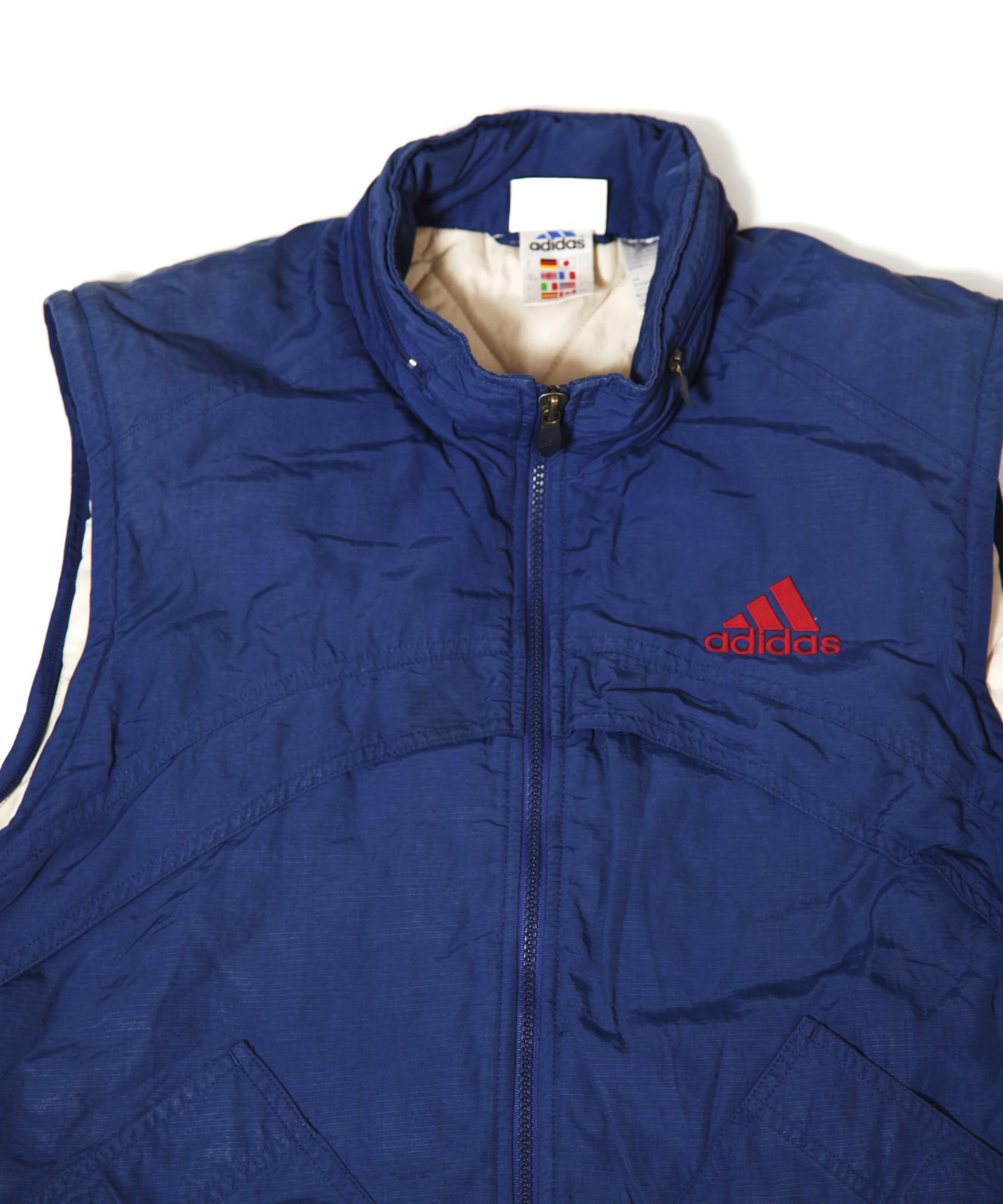 Blue 80s Adidas bodywarmer