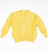 Wool 80s jumper in yellow