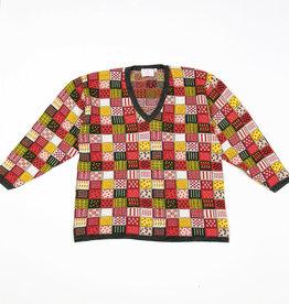 Patchwork 80s jumper