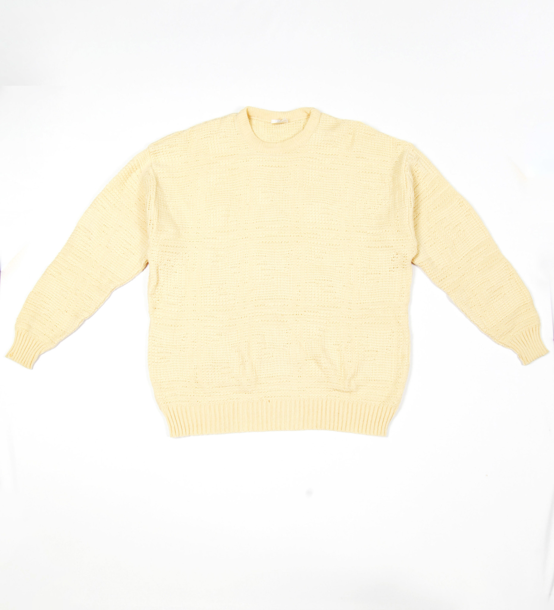 Yellow classic cable jumper