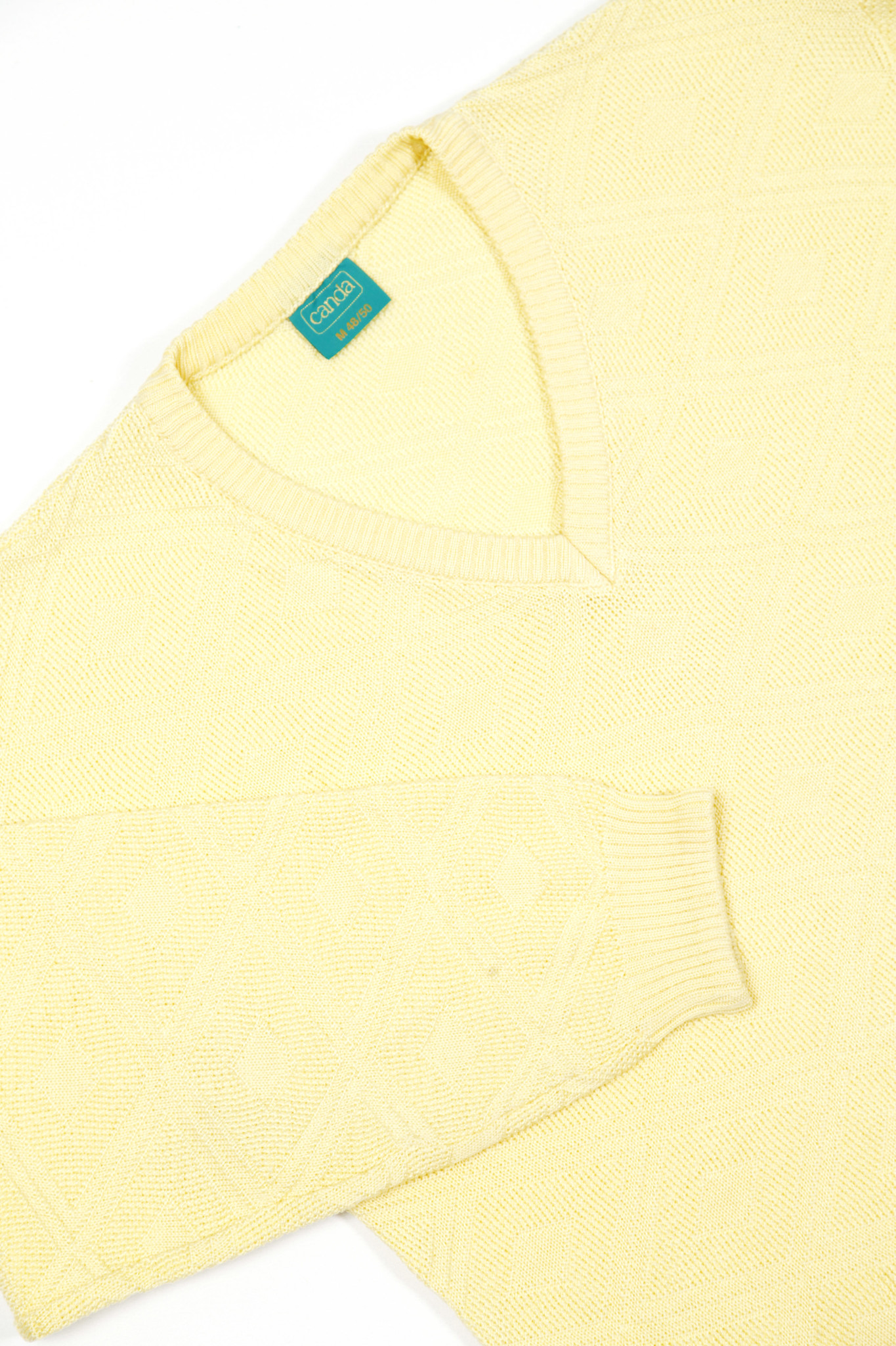 Structured yellow knit jumper