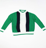 Green black white cable jumper