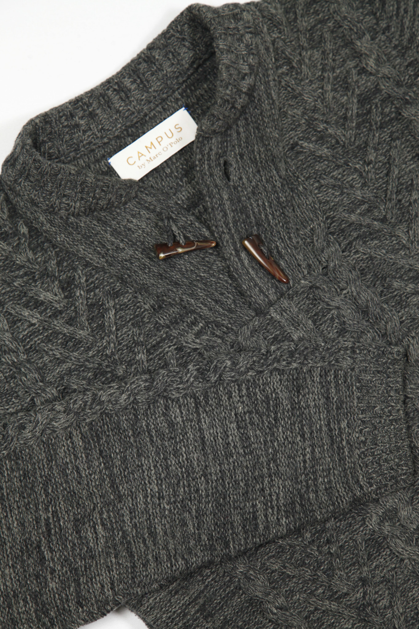 Grey classic knitted jumper