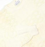 Soft yellow white classic jumper