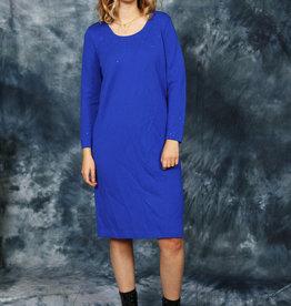 Blue 80s midi dress