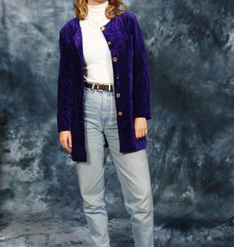 Purple 80s velvet jacket