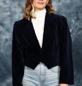 Blue 80s velvet jacket