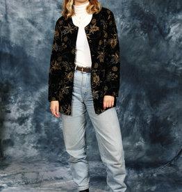 Floral 80s velvet jacket