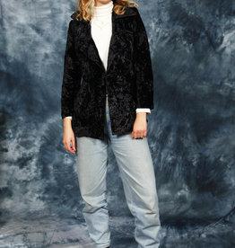 Black 90s jacket in velvet