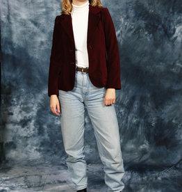 Red 70s velvet jacket