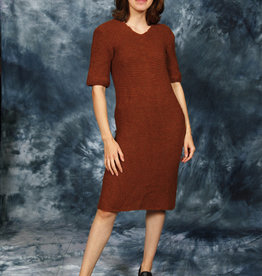 Brown 70s  knitted dress