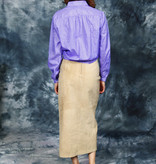 Beige 90s maxi skirt in leather