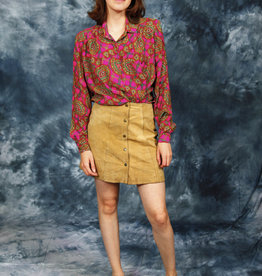 Suede 70s mini skirt