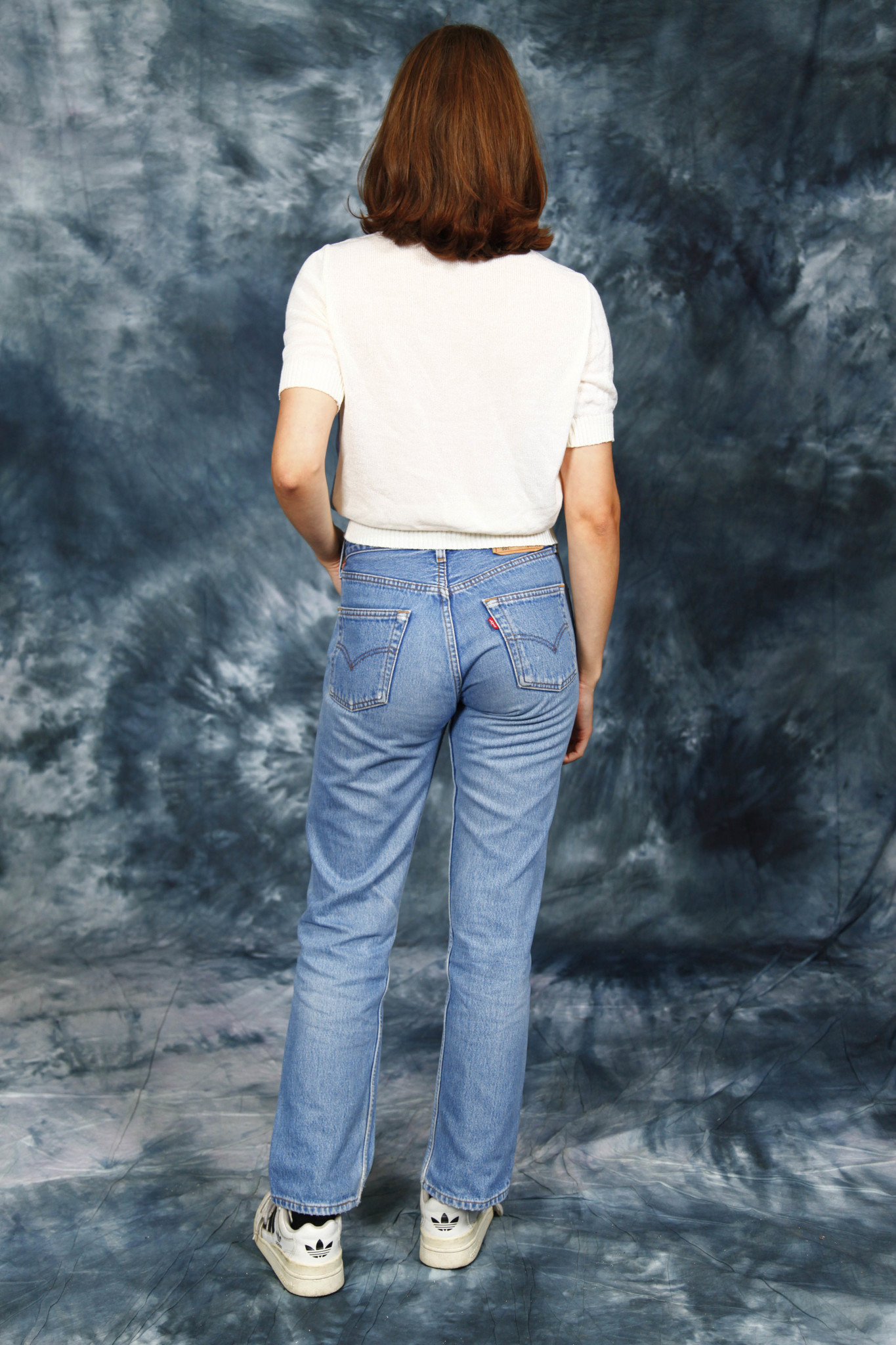 White 80s stretch top