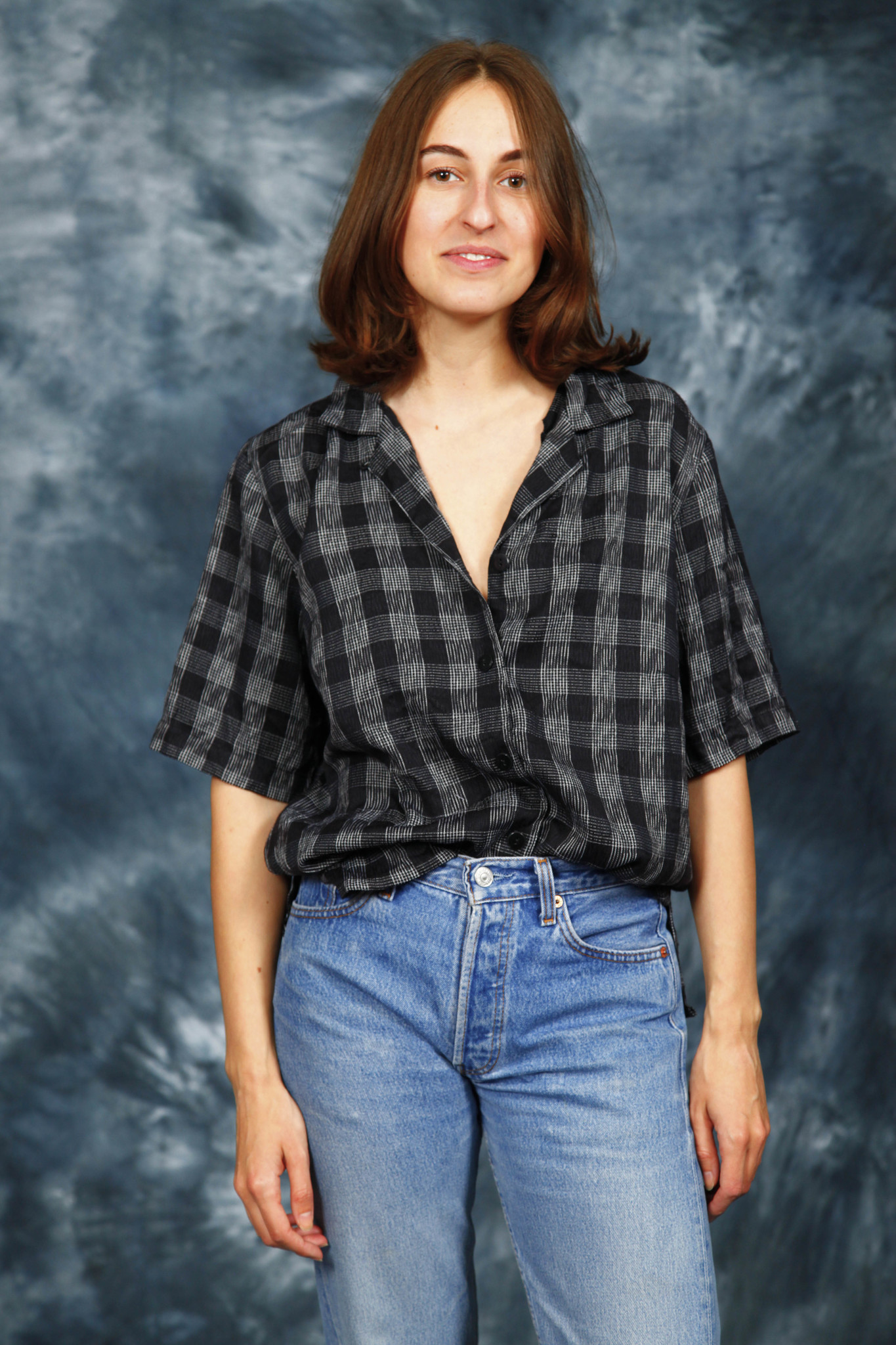 Printed 80s blouse