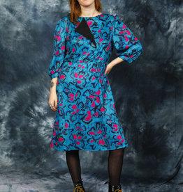 Printed 80s dress