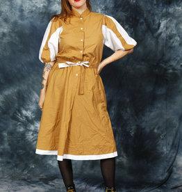 Fun 80s Dress w/ Puff Sleeves