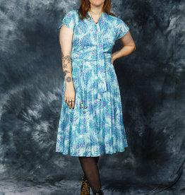 Classic 80s floral dress
