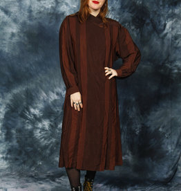 Brown 80s Dress
