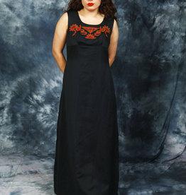 Black 70s maxi dress