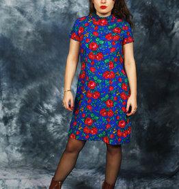 Classy 70s floral dress