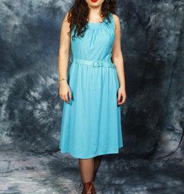 Classic midi dress in blue