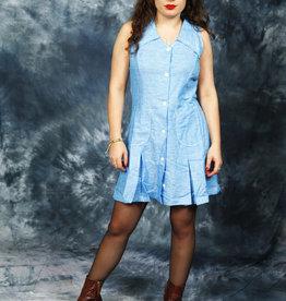 Blue 70s mini dress