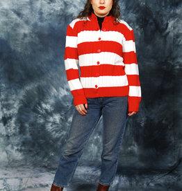 Striped 80s vest