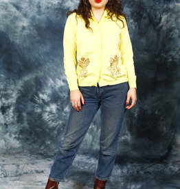 Yellow 80s cardigan