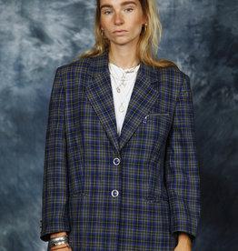 Wool plaid jacket