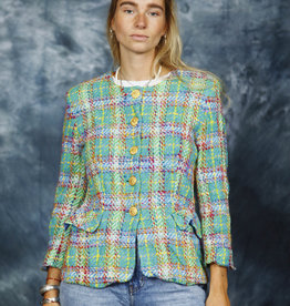 Boucle 80s jacket in green