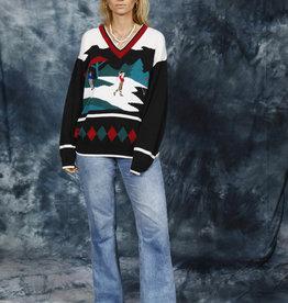 Printed 80s jumper