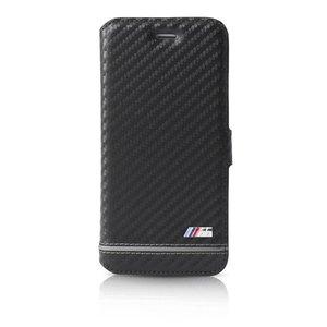 BMW Originele Sport Carbon Effect Folio Bookcase voor de Apple iPhone 6 / 6S - Zilver