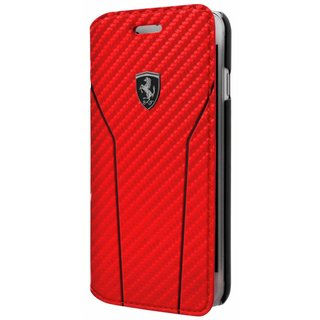 Originele Off Track Scuderia Folio Bookcase Hoesje voor de Apple iPhone 6 / 6S / 7 en 8 - Rood