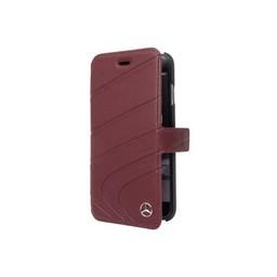 Mercedes-Benz Originele Wave III Folio Bookcase voor de Apple iPhone 6 / 6S / 7 en 8 - Bordeauxrood
