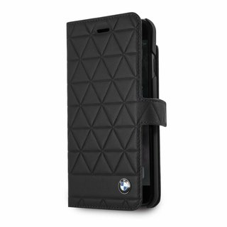 Originele Hexagon Folio Bookcase Hoesje voor de Apple iPhone 6 Plus / 6S Plus / 7 Plus en 8 Plus - Zwart