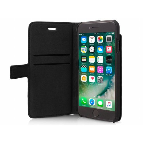 BMW Originele Hexagon Folio Bookcase Hoesje voor de Apple iPhone 6 Plus / 6S Plus / 7 Plus en 8 Plus - Zwart
