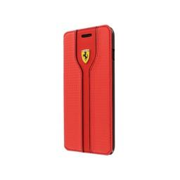 Ferrari Originele Scuderia Carbon Design Folio Bookcase Apple iPhone 6 / 6S - Rood
