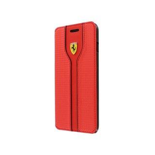 Originele Scuderia Carbon Design Folio Bookcase Apple iPhone 6 / 6S - Rood